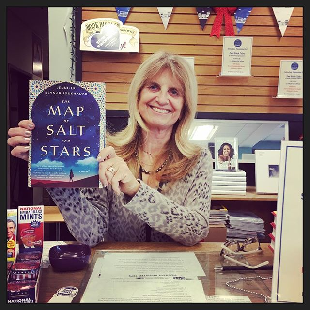 @zeyn_al3asfur this bookstore is crazy about your book! @bookpassage  even the sales person was buying one! They love it.#mapofsaltandstars