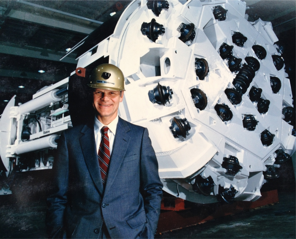 Dick with a Robbins Co. tunneling machine