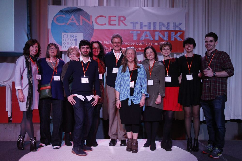 Cancer Think Tank volunteers with Dr Carla Grandori