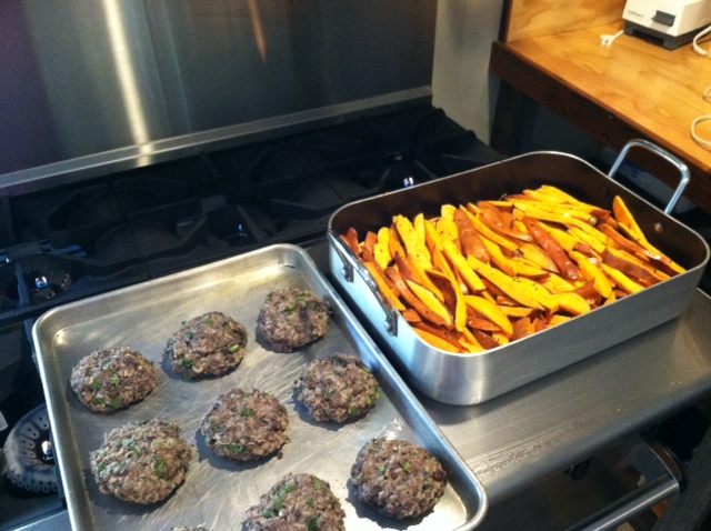 Vegan and gluten 'burgers' during our yoga retreat!