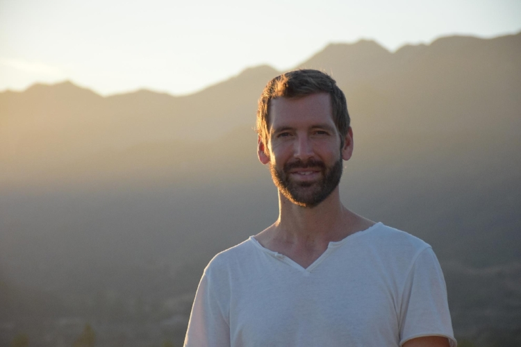 Yoga teacher Aaron Ogden