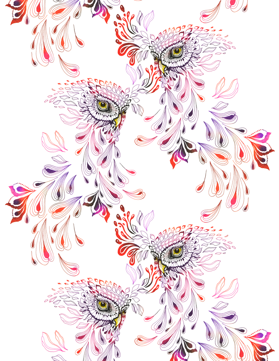Extinct owl pattern