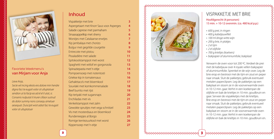 Weekmenu table of contents and recipe design (image courtesy of Weekmenu)