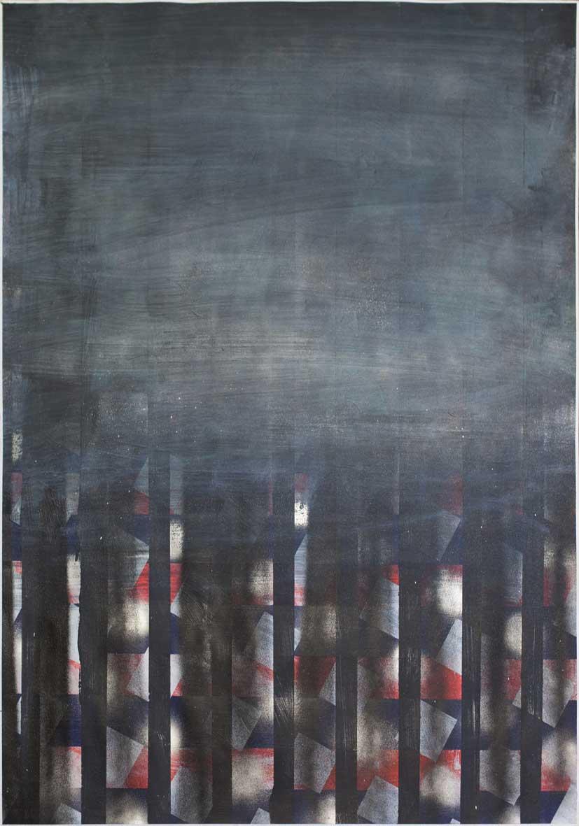 s  ample 6  · 100 x70 · Acryl, Lack auf Papier