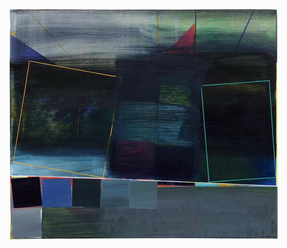 75   · 60 x 70 cm · Acryl, Pigment auf Leinwand, 2009