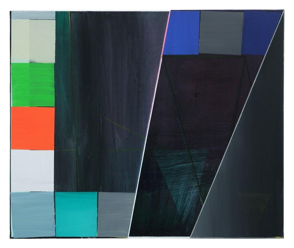 74   ·  50 x 60 cm · Acryl, Pigment auf Leinwand, 2009