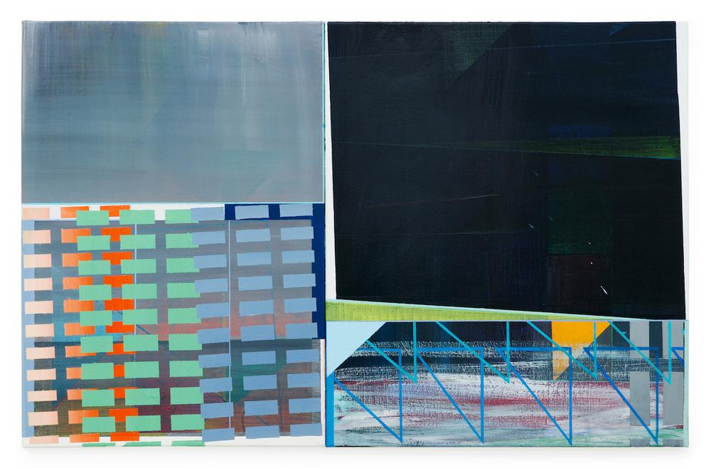 Storefront   ·  70 x 110 cm · 2-teilig · Acryl, Pigment auf Leinwand, 2010