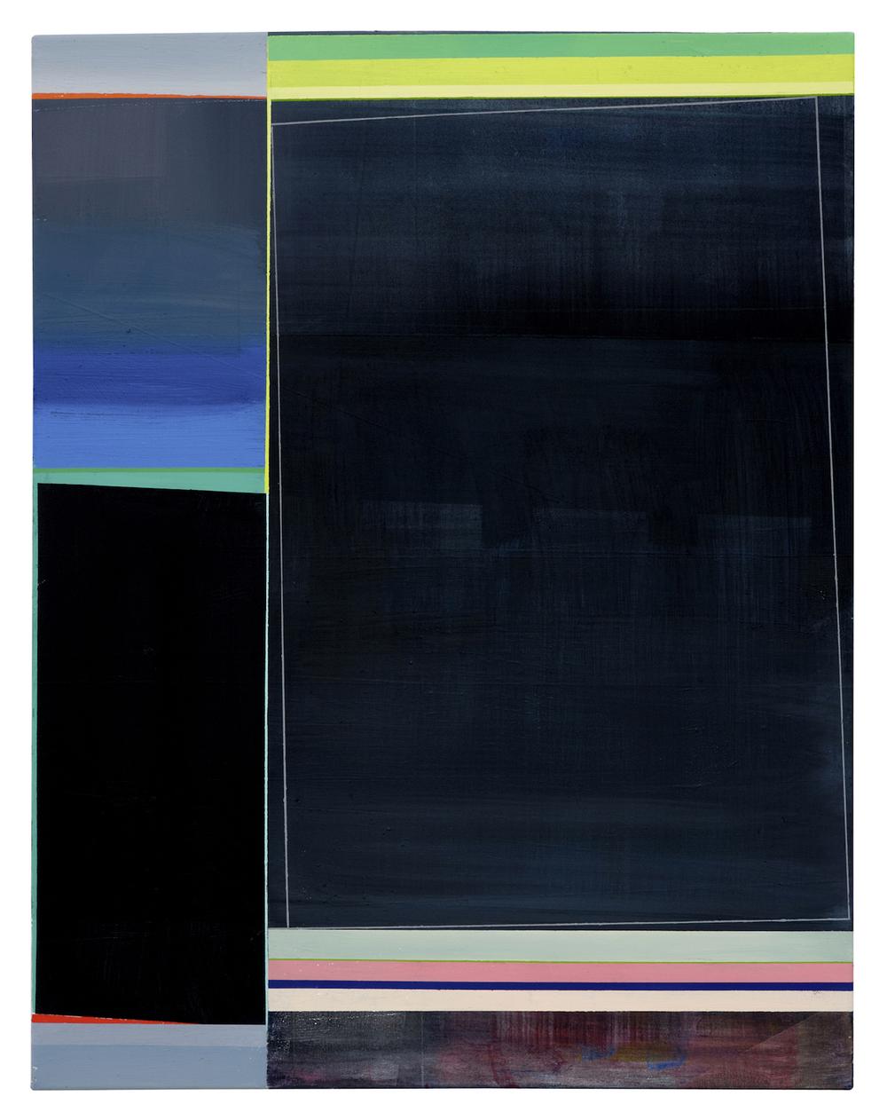 o.T . · 90 x 70 cm · Acryl, Pigment auf Leinwand, 2010