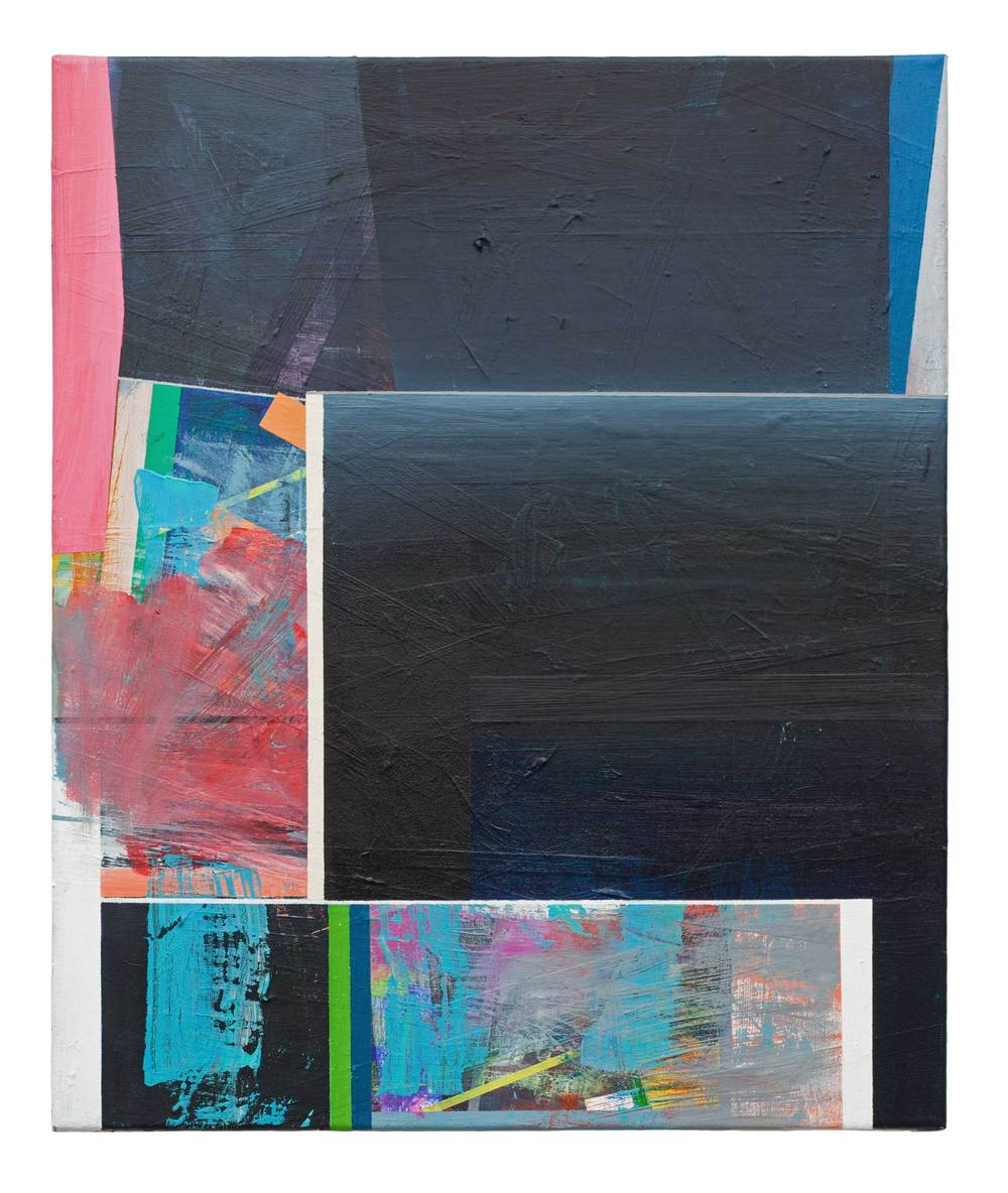 Straight On   · 60 x 50 cm · Acryl, Pigment, Lack auf Leinwand, 2012