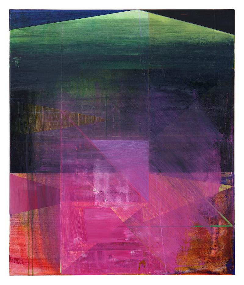 o.T. (van Eyck)  ·70 x 60 cm · Acryl, Pigment auf Leinwand, 2009