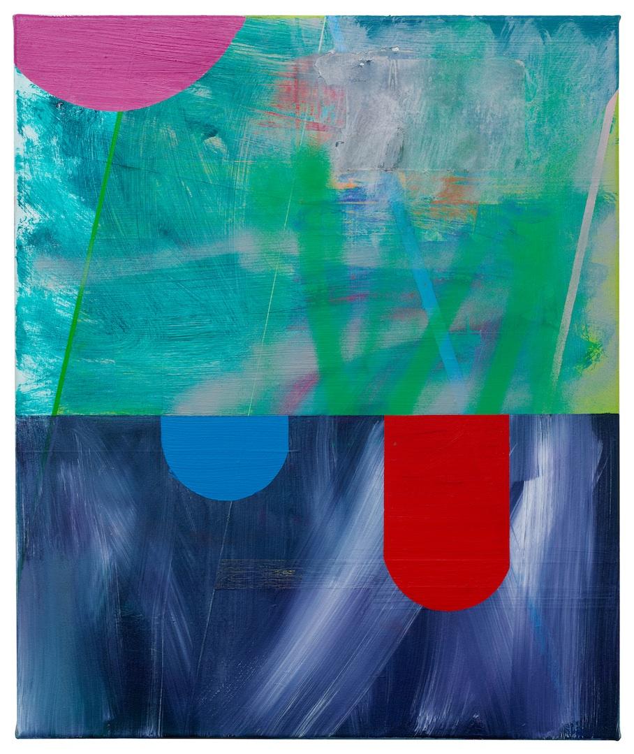 Lese-Rechtschreib-Schwäche  · 60 x 50 cm · Acryl, Pigment, Lack auf Leinwand, 2014