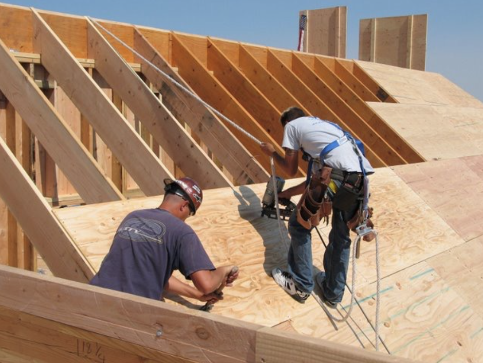 Part 3 special fall protection feature contract lumber for Roof sheathing material