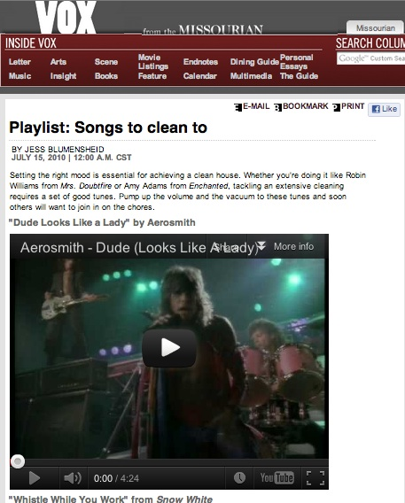 Playlist: Songs to clean to