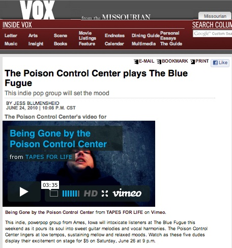 The Poison Control Center plays The Blue Fugue