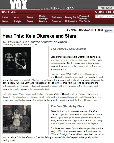 Hear This: Kele Okereke and Stars