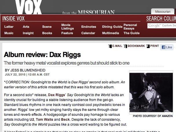 Album review: Dax Riggs
