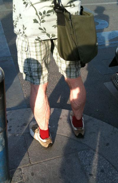 The main reason I like my leg veins so much is that they're bigger than my dick veins.