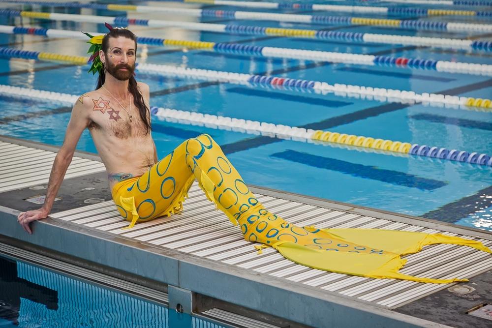 This guy was my lane buddy today atMasters swim class…..