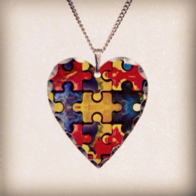 Happy Valentine's Day from @theautisminitiative! Keep #autism close to your heart with our beautiful puzzle piece necklace. ❤️