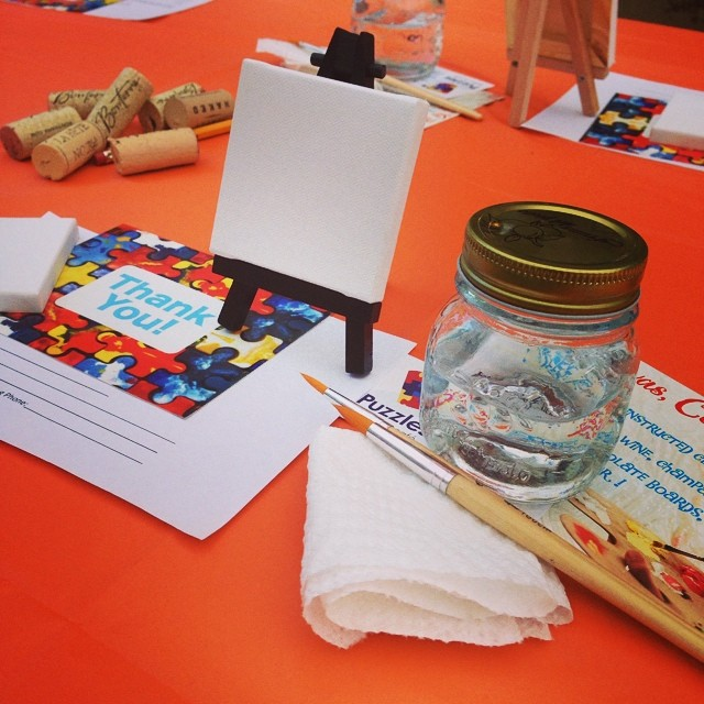 We enjoyed collaborating with Canvas, Corks, & Forks and Schenectady Pride for Paint with Pride! 🎨 #autism #1in68