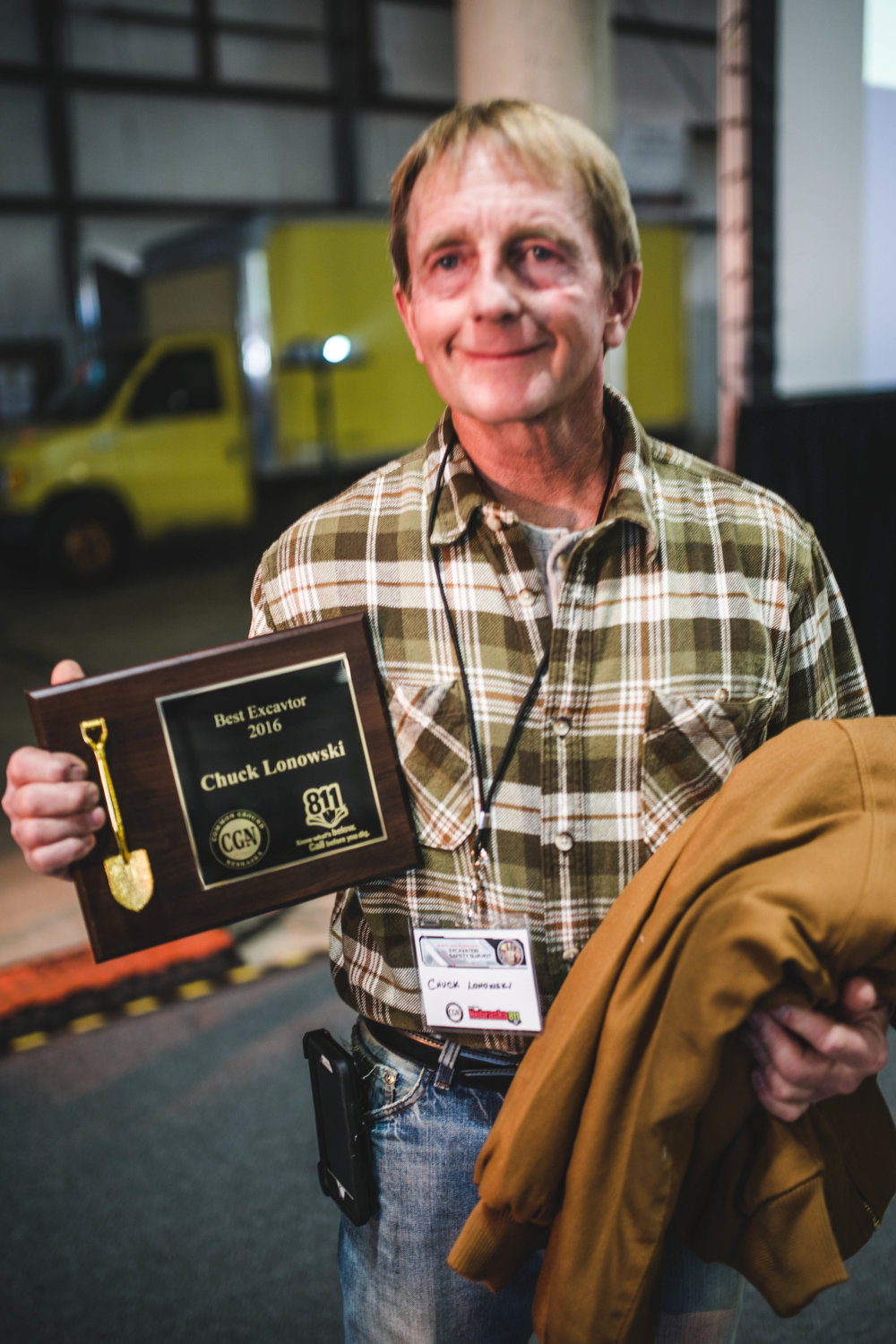 2016 - Chuck lonowski, d&a trenching - excavator of the year