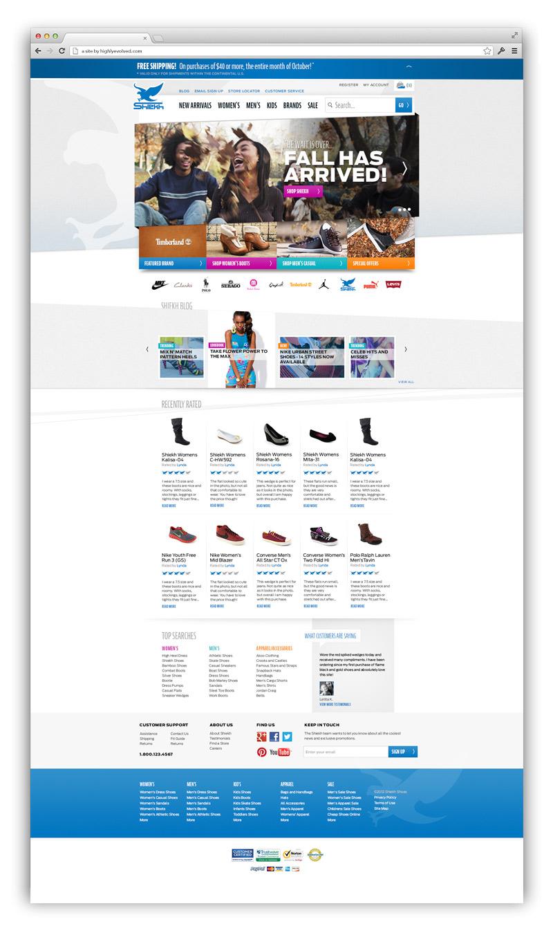 ShiekhShoes.com Home Page