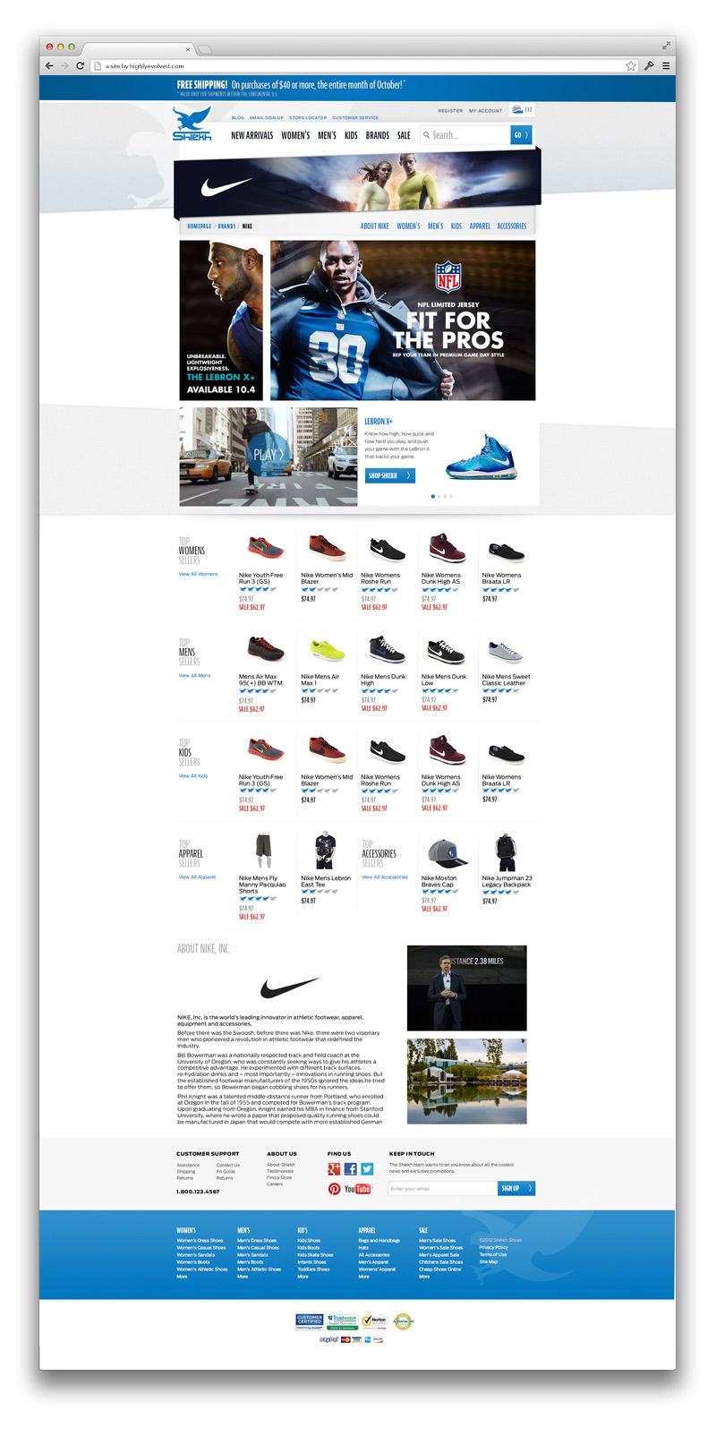ShiekhShoes.com Premium Brand Landing Page