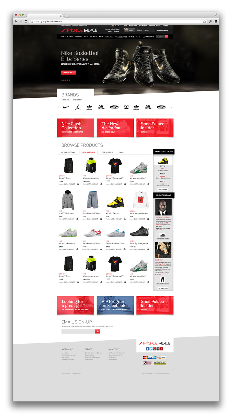 Shoe Palace Homepage