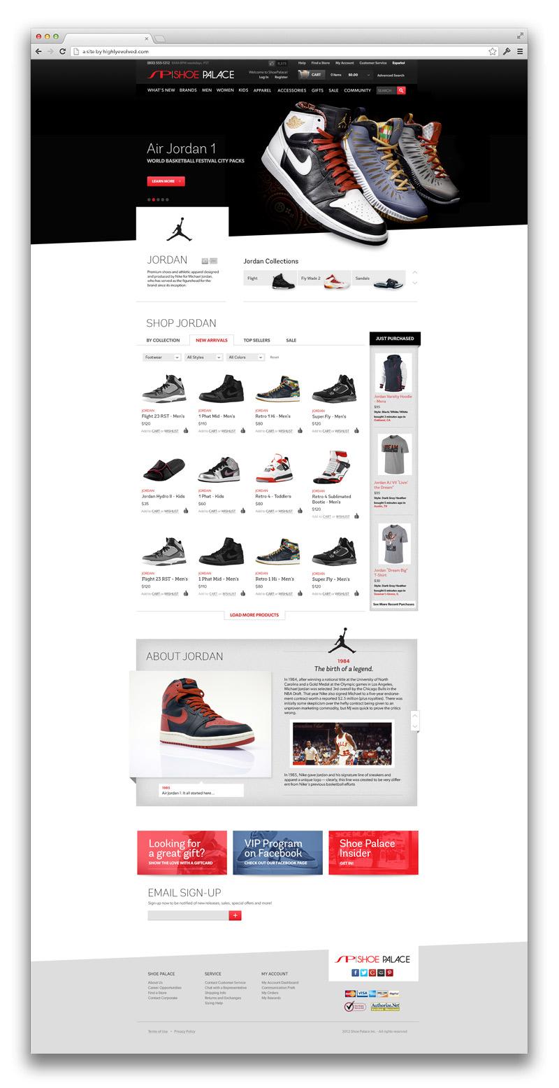 Premium Brand Landing Page - Jordan