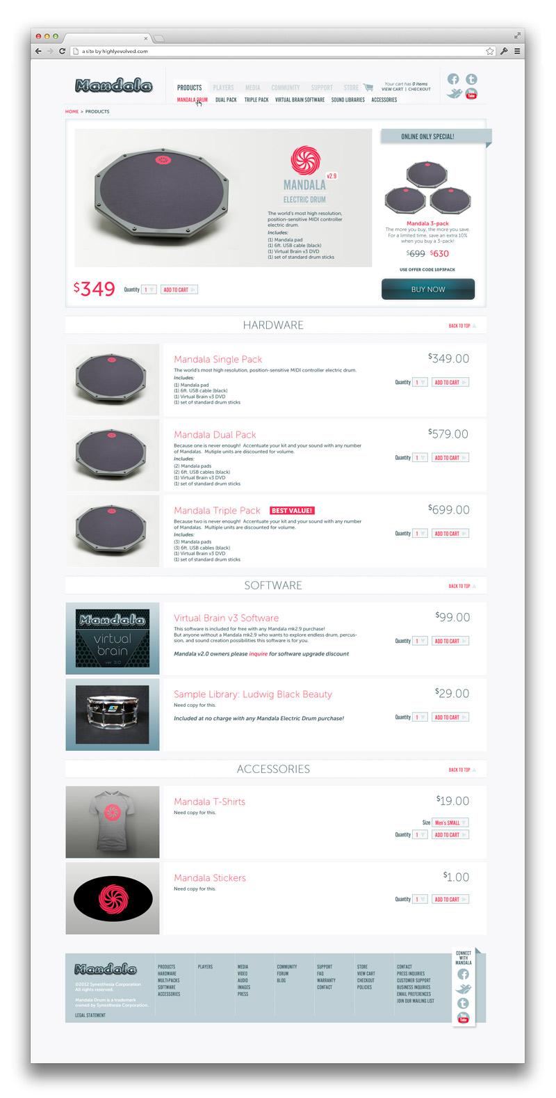 Mandala Drum Web Store