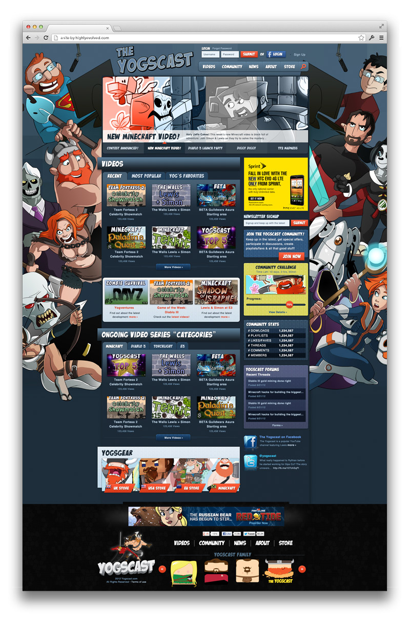Yogscast Homepage - the safe comp