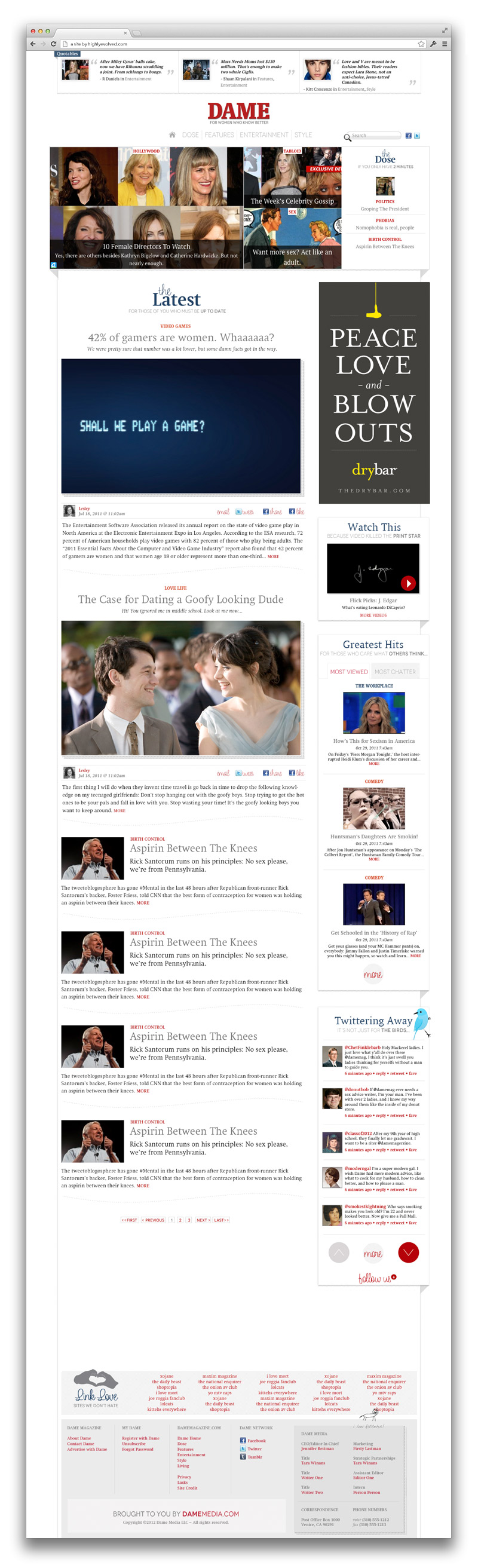 Dame Magazine Homepage