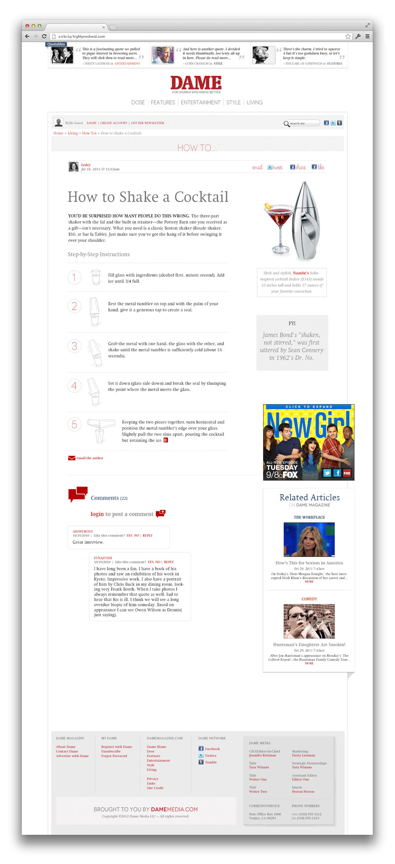 Dame Magazine - How-To Article Template