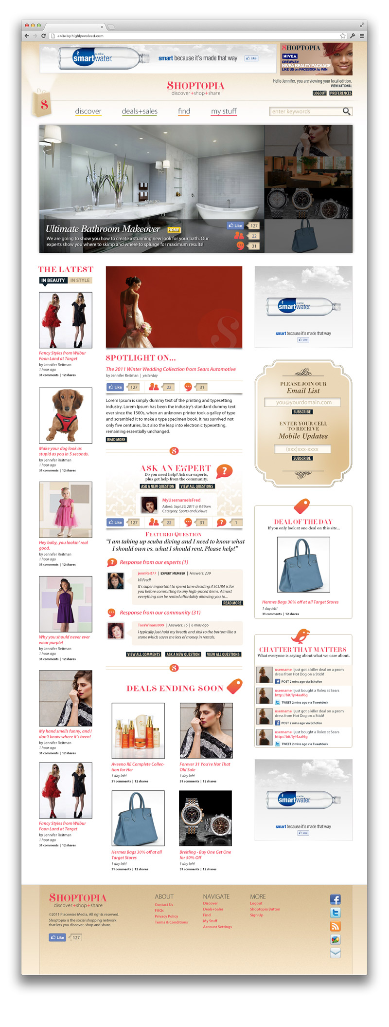 Shoptopia Option 2: Proposed Homepage