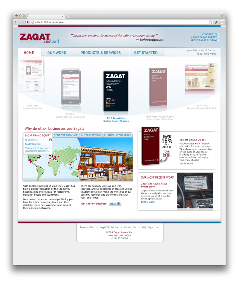 Zagat Corporate Homepage