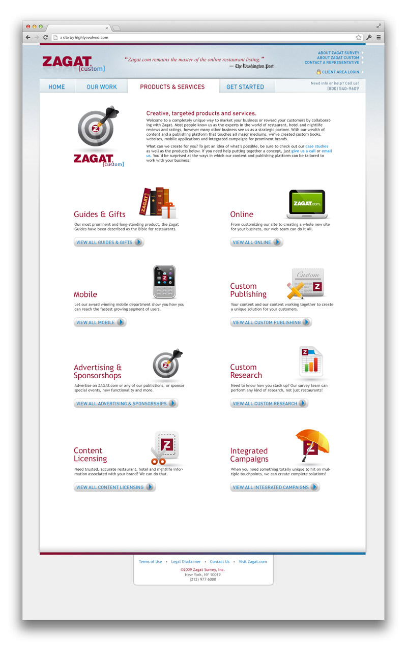 Zagat Corporate Products and Services