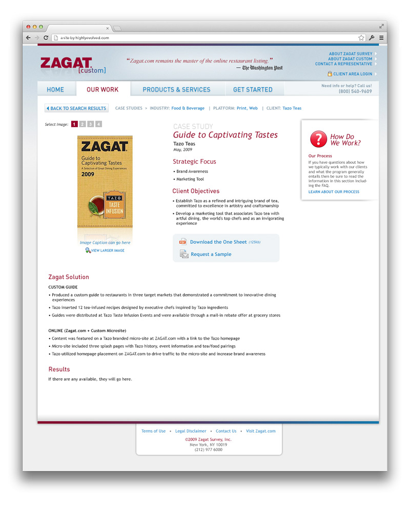 Zagat Corporate Case Study Detail