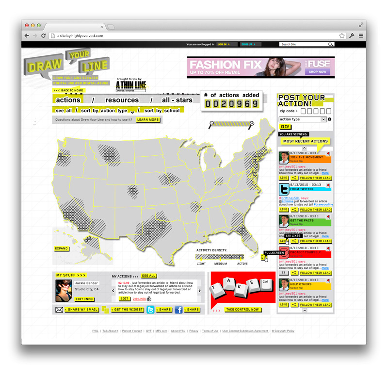 MTV - AThinLine.org Interactive Map Homepage