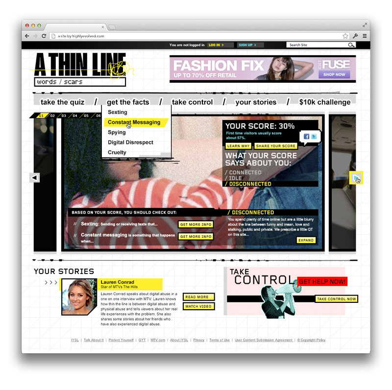 MTV: A Thin Line - Homepage