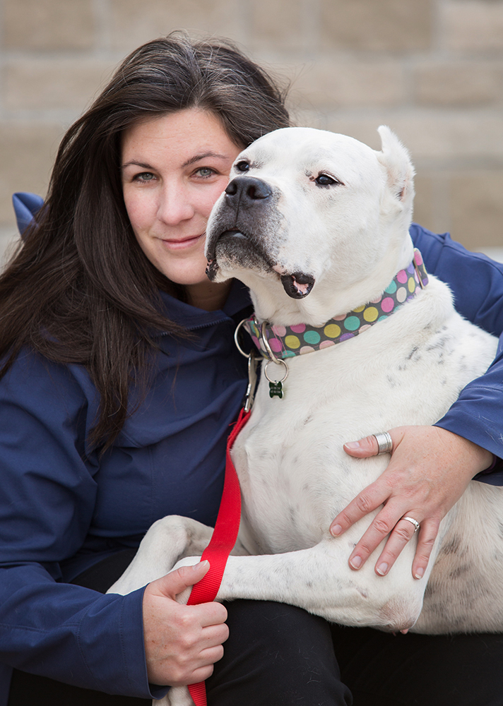 My foster dog, Siobhan and I. This photo was taken the day she was adopted. Fostering is incredibly rewarding. You miss these dogs who have a piece of your heart but you are incredibly thankful for them to have a second chance at a happy home. Siobhan was saved by Sit With Me Shelter Dog Rescue.