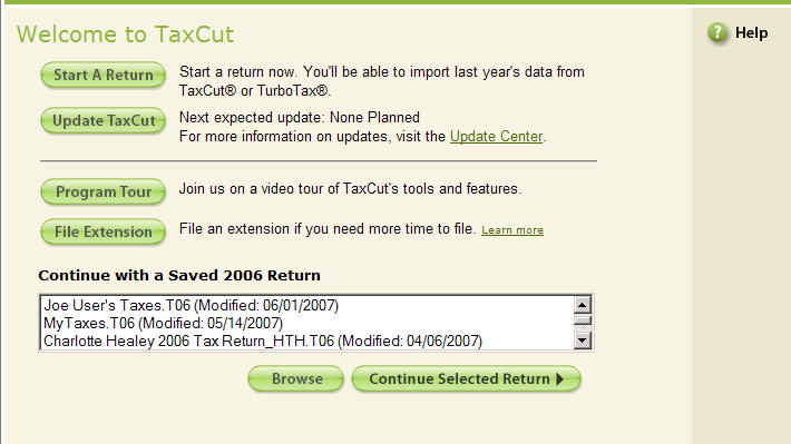 TaxCut Welcome Sequence Project to reduce confusion around creating multiple tax returns. Tasks: Data Analysis, Interaction Design, Usability Study Deliverables: Functional Requirements, Workflow Diagram, Wireframes, Functional Specification