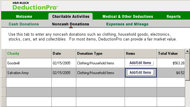 DeductionPro Donations   Project to clear up user issues with data entry workflow in H&R Block's deduction tracking software.   Tasks:  Data Analysis, Interaction Design, Usability Study, Usability Walkthrough   Deliverables:  Functional Requirements, Workflow Diagram, Wireframes, Functional Specification