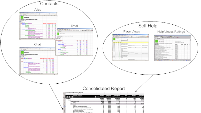 TaxCut Support Reports Redesign of support reports to make it easier to track issues, find new user requirements, and evaluate implemented designs. Tasks: Data Analysis, Information Architecture, Card Sorting Deliverables: Report Templates, Reporting Structure
