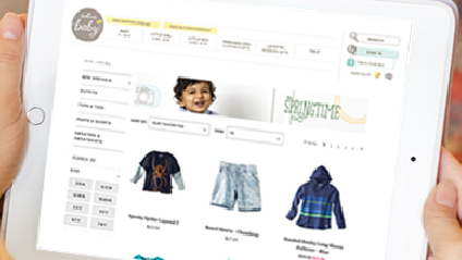 Hallmark Baby Responsive E-Commerce Site New responsive site built using Demandware. Translated Demandware specifications to Hallmark Baby's domain. Tasks: Interaction Design, Responsive Web Design Deliverables: Wireframes, Responsive Prototype Project completed in partnership with Useagility. Details links to their site.