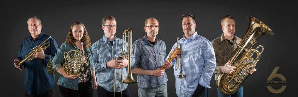 This is Masterworks 6, our premier brass ensemble. Performing traditional Classical, big band, and classic rock music for audiences nationwide. Visit their dedicated website at www.masterworks6.com