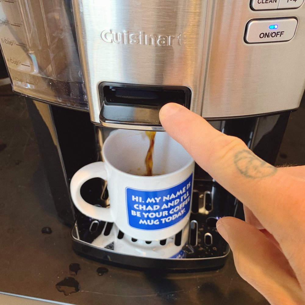 Push the lever to dispense coffee