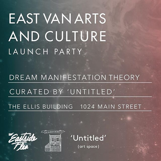 "Friday at 7pm our Chief Exploration officer Pat Christie (@toddchrispy) will be showing off some of his creations for a group art show titled ""Dream Manifestation Theory"" curated by @untitledartspace. The event is a launch party for newly established @eastvanartsandculture Society at the Ellis Building on Main St."