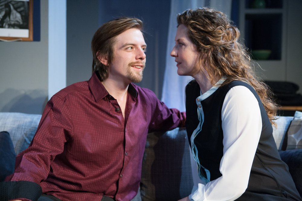 Michael Torsch (left) and heidi Fellner in aunt raini. (photo by sarah whiting.)