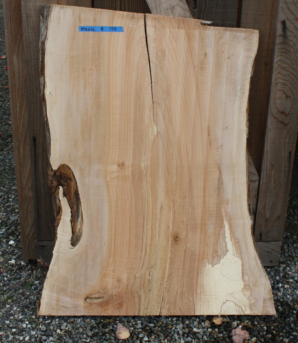 """Maple 41-43"""" long 27- 33"""" wide $175, contact us for availability"""