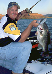 Mike Jones and Bill Siemantel (pictured) attempt to discredit many common myths about big-bass fishing. Photo Credit: Michael Jones.